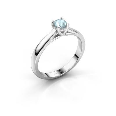 Picture of Engagement ring Mia 1 950 platinum aquamarine 4 mm