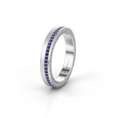 Wedding ring WH2214L15BM 950 platinum sapphire 1 mm ±5x2 mm