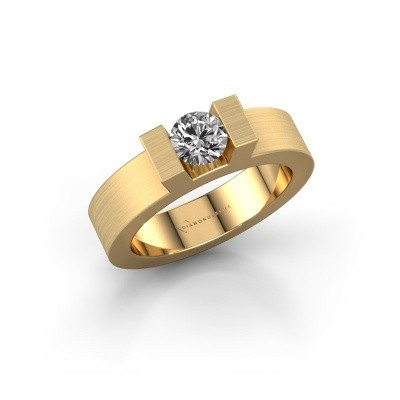 Foto van Ring Leena 1 375 goud zirkonia 5 mm