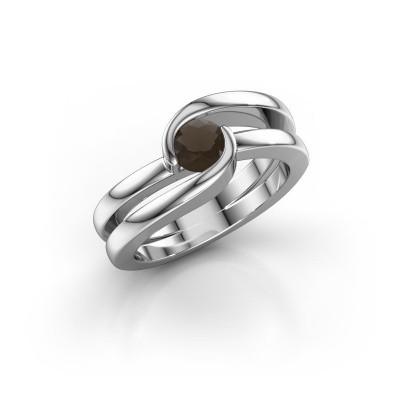 Foto van Ring Xenia 1 925 zilver rookkwarts 5 mm