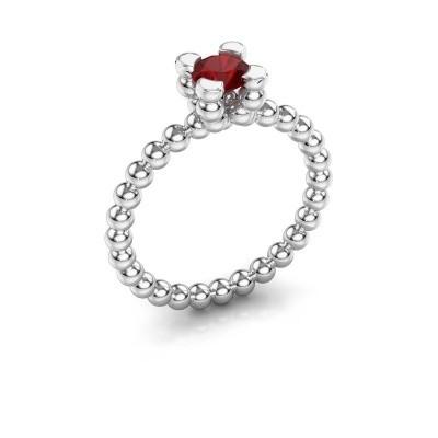 Ring Aurore 925 zilver robijn 5 mm