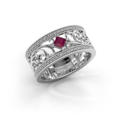 Ring Danae 925 silver rhodolite 3 mm