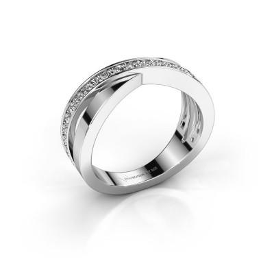 Foto van Ring Essie 585 witgoud zirkonia 1.5 mm