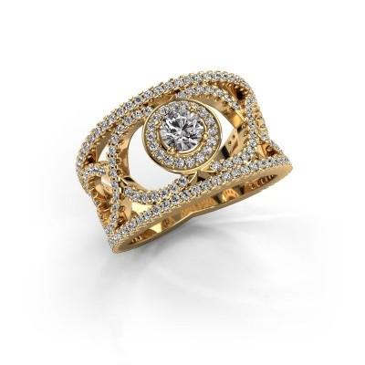Foto van Ring Regina 375 goud zirkonia 4.2 mm