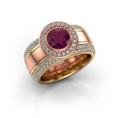 Foto van Ring Roxie 585 rosé goud rhodoliet 6.5 mm