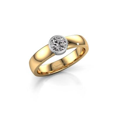 Foto van Ring Ise 1 585 goud zirkonia 4.7 mm