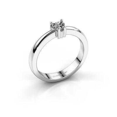 Foto van Aanzoeksring Florentina heart 585 witgoud lab-grown diamant 0.25 crt