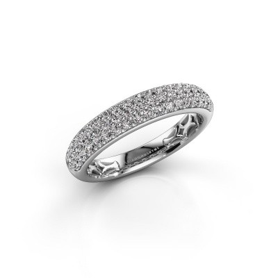 Foto van Ring Emely 4 585 witgoud zirkonia 1.4 mm
