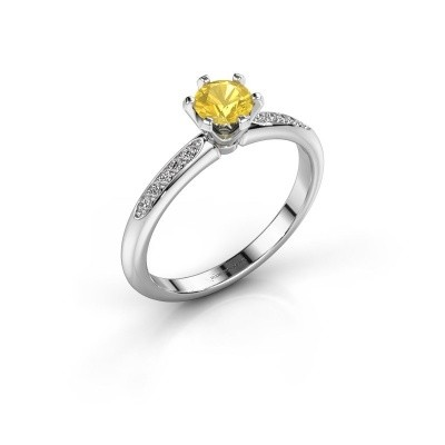 Picture of Engagement ring Tiffy 2 925 silver yellow sapphire 4.7 mm