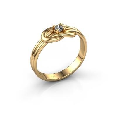 Ring Marina 585 goud diamant 0.10 crt