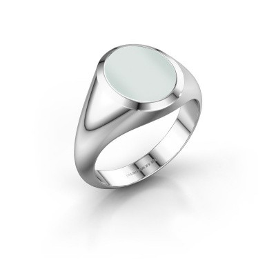 Signet ring Evon 2 925 silver green sardonyx 12x10 mm