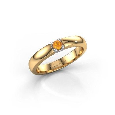 Picture of Engagement ring Rianne 1 585 gold citrin 3 mm