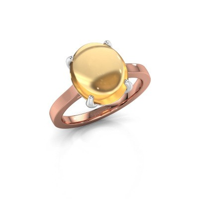 Foto van Ring Mallie 1 585 rosé goud citrien 12x10 mm