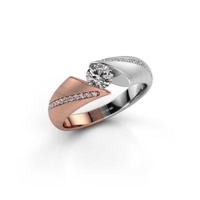 Verlovingsring Hojalien 2 585 rosé goud diamant 0.52 crt