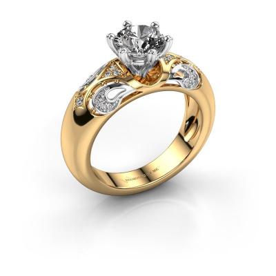 Ring Maya 585 goud zirkonia 6.5 mm