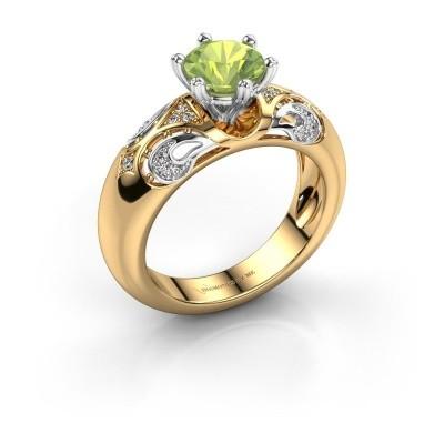 Ring Maya 585 Gold Peridot 6.5 mm