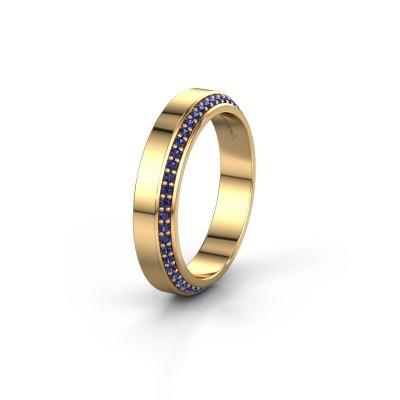 Trouwring WH2106L14C 375 goud saffier ±4x2.2 mm