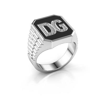 Foto van Rolex stijl ring Stephan 3 585 witgoud diamant 0.005 crt