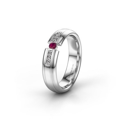 Alliance WH2128L26C 950 platine rhodolite ±5x2 mm