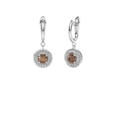 Oorhangers Ninette 1 950 platina bruine diamant 1.384 crt