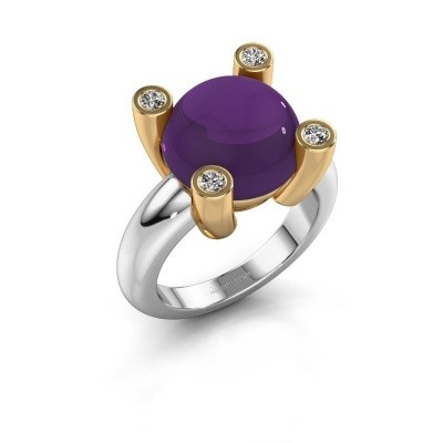 Picture of Ring Janice RND 585 white gold amethyst 12 mm