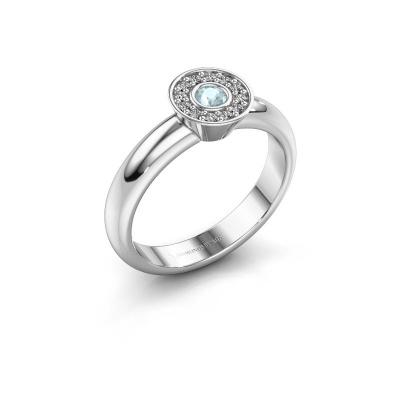 Ring Fiene 925 silver aquamarine 2.8 mm