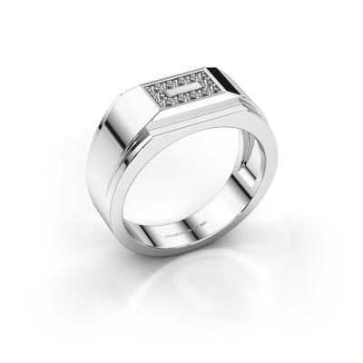 Men's ring Roan 585 white gold zirconia 1.5 mm