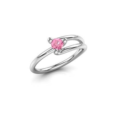 Ring Roosmarijn 585 Weißgold Pink Saphir 3.7 mm
