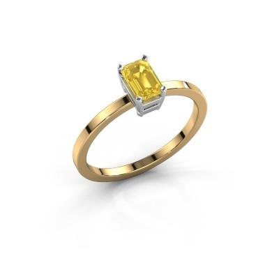 Verlobungsring Denita 1 585 Gold Gelb Saphir 6x4 mm