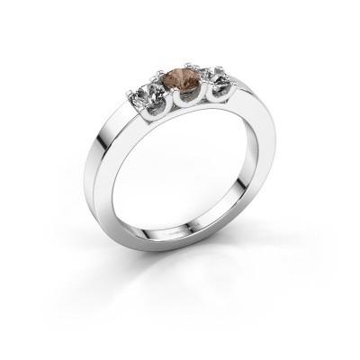 Foto van Verlovingsring Selina 1 950 platina bruine diamant 0.50 crt
