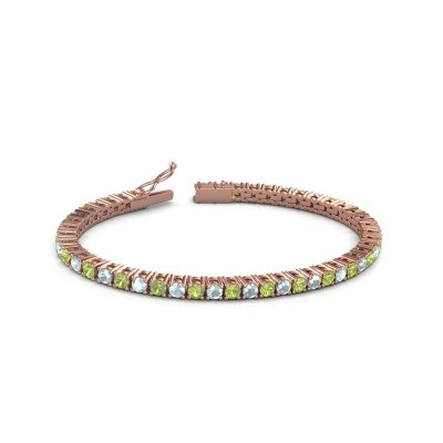 Tennisarmband Jenny 375 rosé goud peridoot 3.5 mm