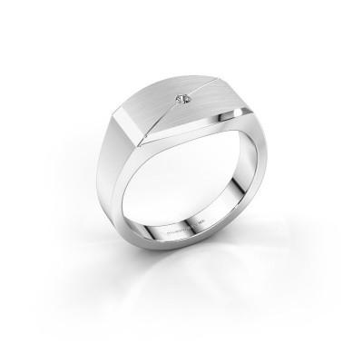 Heren ring Joe 5 950 platina zirkonia 2 mm