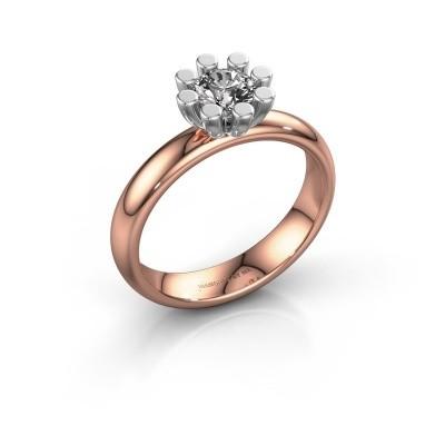 Stapelring Carola 1 585 rosé goud lab-grown diamant 0.50 crt