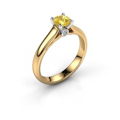 Verlovingsring Valorie 1 585 goud gele saffier 5 mm