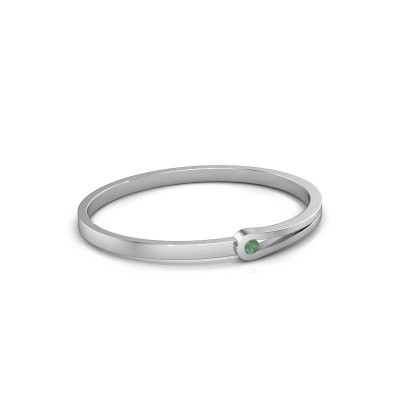 Bangle Kiki 950 platinum emerald 4 mm