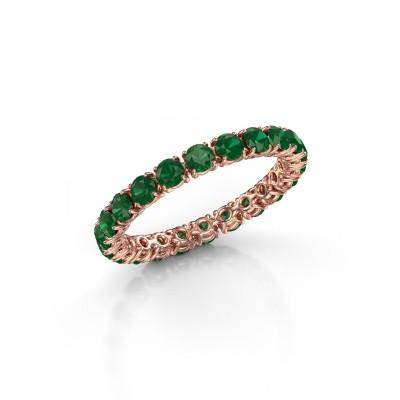 Bild von Ring Vivienne 2.7 375 Roségold Smaragd 2.7 mm