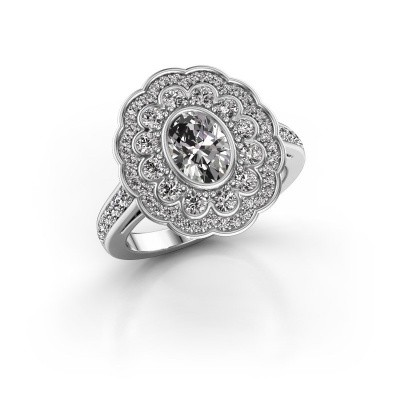 Foto van Ring Jocelyn 585 witgoud diamant 1.596 crt