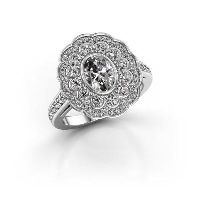 Foto van Ring Jocelyn 585 witgoud diamant 1.496 crt