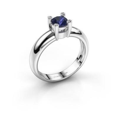 Ring Fleur 925 zilver saffier 4.7 mm