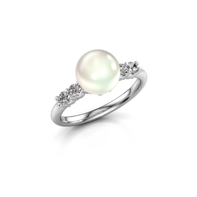 Foto van Ring Cecile 925 zilver witte parel 8 mm