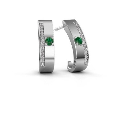 Picture of Earrings Vick1 925 silver emerald 2.4 mm