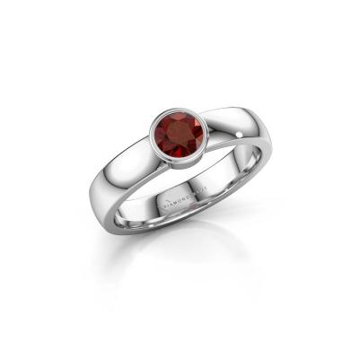 Ring Ise 1 585 white gold garnet 4.7 mm