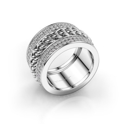Ring Jayda 585 witgoud zirkonia 1.2 mm