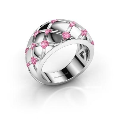 Ring Imke 585 Weißgold Pink Saphir 2.5 mm