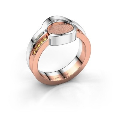 Ring Leander 585 rose gold yellow sapphire 0.8 mm