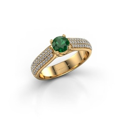 Picture of Engagement ring Leoness 375 gold emerald 5 mm