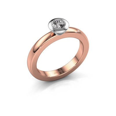 Stapelring Trudy Round 585 rosé goud diamant 0.25 crt