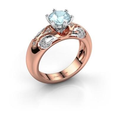 Ring Maya 585 Roségold Aquamarin 6.5 mm