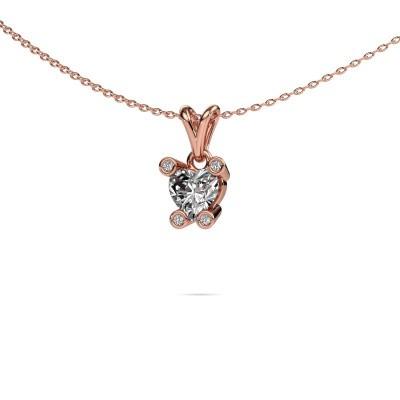 Kette Cornelia Heart 375 Roségold Lab-grown Diamant 0.82 crt