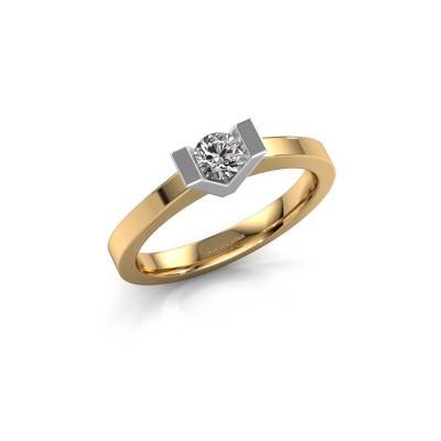 Foto van Aanzoeksring Sherley 1 585 goud diamant 0.25 crt